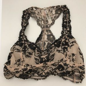 Free People Lace Racerback bralette size small